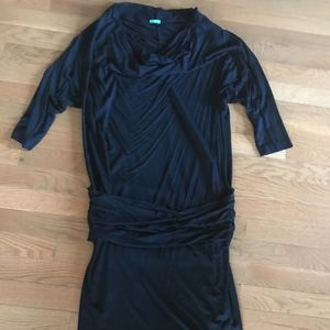 UC of Benetton Drop Waist Black Dress